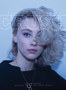 CRUSHfanzine_Auxiliary_Issue_5_Are_You_There_Alone_Cover_of_Sarah_Gadon_by_Matt_Gunther