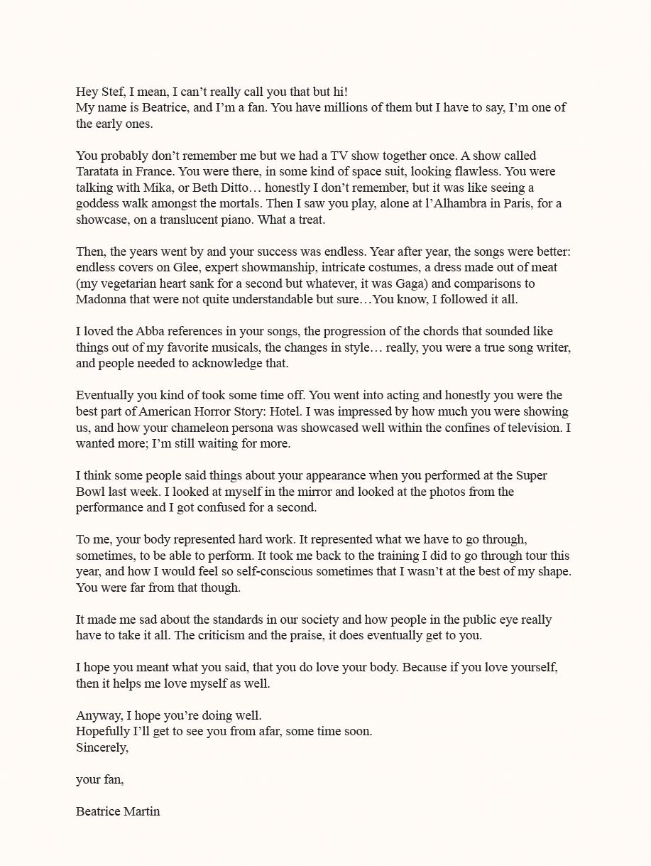crushfanzine fan letter Cœur de pirate